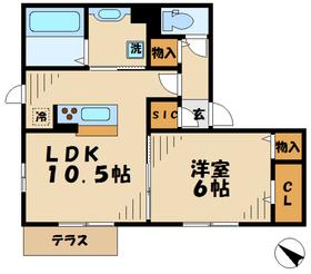 ルーチェB1階Fの間取り画像