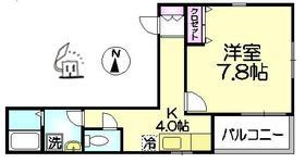 カーサ デュオ3階Fの間取り画像