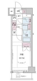 神楽坂駅 徒歩5分8階Fの間取り画像