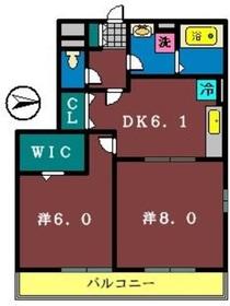 ボンヌール22階Fの間取り画像