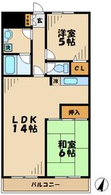 リュミエ栗平2階Fの間取り画像