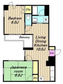 淵野辺駅 バス5分「千代田」徒歩1分2階Fの間取り画像