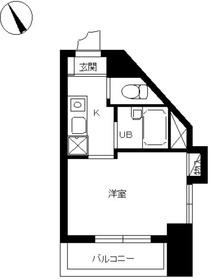 スカイコート文京本郷4階Fの間取り画像