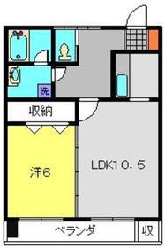 金子ビル1階Fの間取り画像