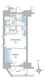 ルフォンプログレ東上野15階Fの間取り画像