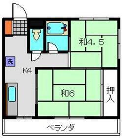 青木ビル4階Fの間取り画像