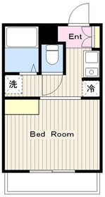 ドーヤマハイツ2階Fの間取り画像