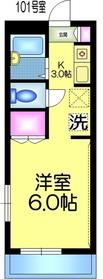 レジデンスK・T1階Fの間取り画像