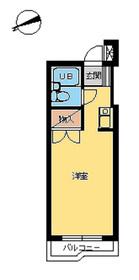 スカイコート品川第51階Fの間取り画像