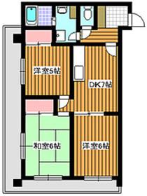 地下鉄赤塚駅 徒歩12分4階Fの間取り画像