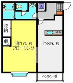 上大岡駅 徒歩7分2階Fの間取り画像