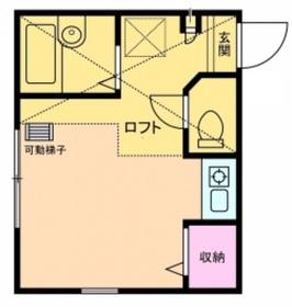 南太田駅 徒歩10分2階Fの間取り画像