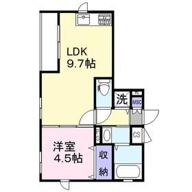 サニークレスト3階Fの間取り画像