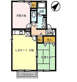セジュール竹 C1階Fの間取り画像