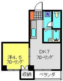 ルート16セイワ2階Fの間取り画像