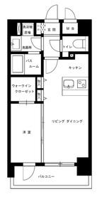 潮見新築マンション7階Fの間取り画像