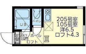 ユナイト横浜ニッコリオ1階Fの間取り画像