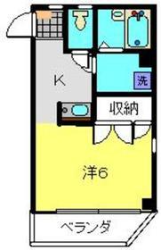 ドミール戸塚3階Fの間取り画像