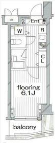 グランヴァンタクティス横濱3階Fの間取り画像