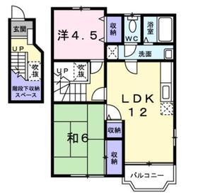ミルキーウェイ2階Fの間取り画像