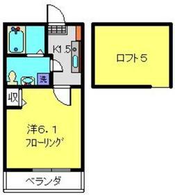 フルール井土ヶ谷2階Fの間取り画像