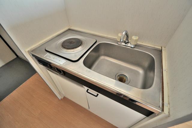 ノーブル布施 電気コンロ付きのキッチンはお手入れが楽チンですよ。