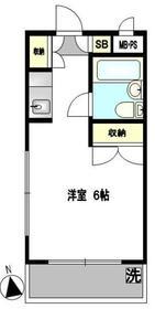 ユースピア大倉山1階Fの間取り画像