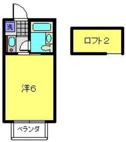 メゾン玉川2階Fの間取り画像