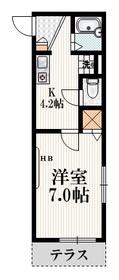 メゾン・マユ1階Fの間取り画像