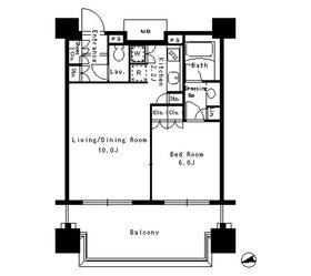 パークアクシス文京ステージ11階Fの間取り画像