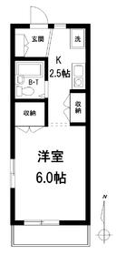 メゾン永田2階Fの間取り画像