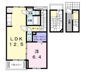 クレールアンジュ3階Fの間取り画像