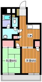 ピュアロイヤル4階Fの間取り画像