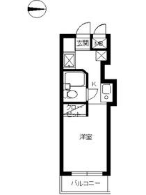 スカイコート武蔵小杉第41階Fの間取り画像