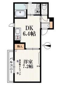 メゾン ルミニューズ1階Fの間取り画像
