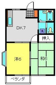 イーグルハイツ2階Fの間取り画像