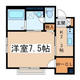 ニューアサヒハイツ1階Fの間取り画像