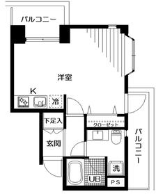 サニープレイス1階Fの間取り画像