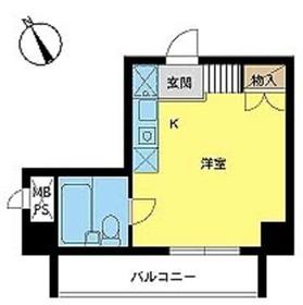 スカイコート浅草第32階Fの間取り画像