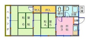 西横浜駅 徒歩14分2階Fの間取り画像