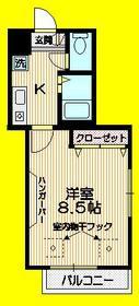 メゾン ド ボナール1階Fの間取り画像