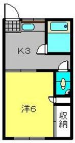常盤台荘Kハイツ1号棟2階Fの間取り画像