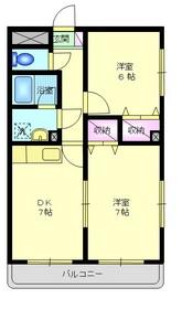 小島新田駅 徒歩1分2階Fの間取り画像