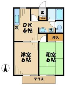 パークサイド角田2階Fの間取り画像