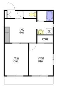 ビクトワール西新宿1階Fの間取り画像