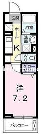 リヴィエール早稲田鶴巻4階Fの間取り画像