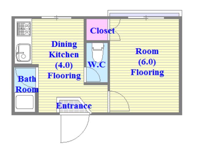 独立したキッチンで室内も広く、明るくて風通しの良いお部屋です。