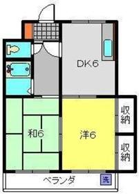 綱島駅 バス15分「駒岡八幡神社前」徒歩1分3階Fの間取り画像