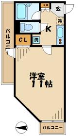 ラルジュ菜の花2階Fの間取り画像