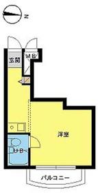 スカイコート下高井戸4階Fの間取り画像